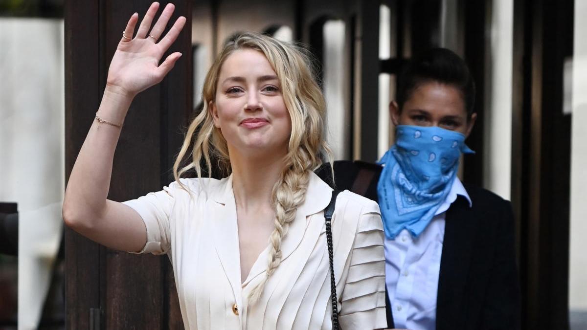 Amber Heard, a su llegada al juicio.