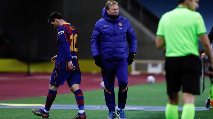 Peligra la presencia de Messi en Elche tras su Roja en la Supercopa