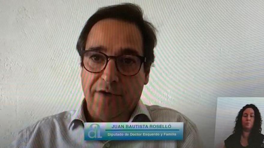 El diputado Roselló alega que Sanidad autorizó su vacuna y amenaza con llegar hasta los tribunales