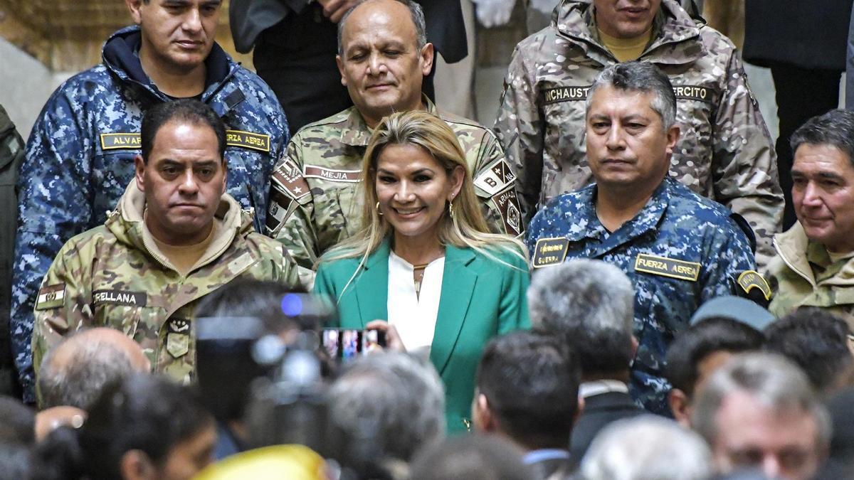 Jeanine Añez, presidenta interina de Bolivia.