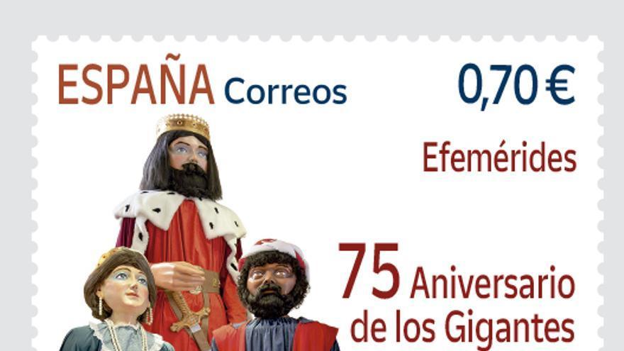 """Correos emite 160.000 sellos para conmemorar el 75º aniversario de los """"Cabets i Gegants"""" de Ontinyent"""