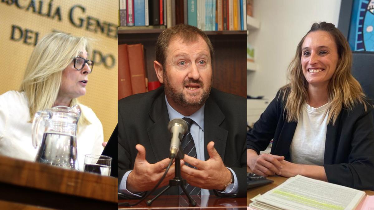María Díaz, Javier Carceller y Carolina Lluch se presentan al puesto de fiscal jefe de Castellón.