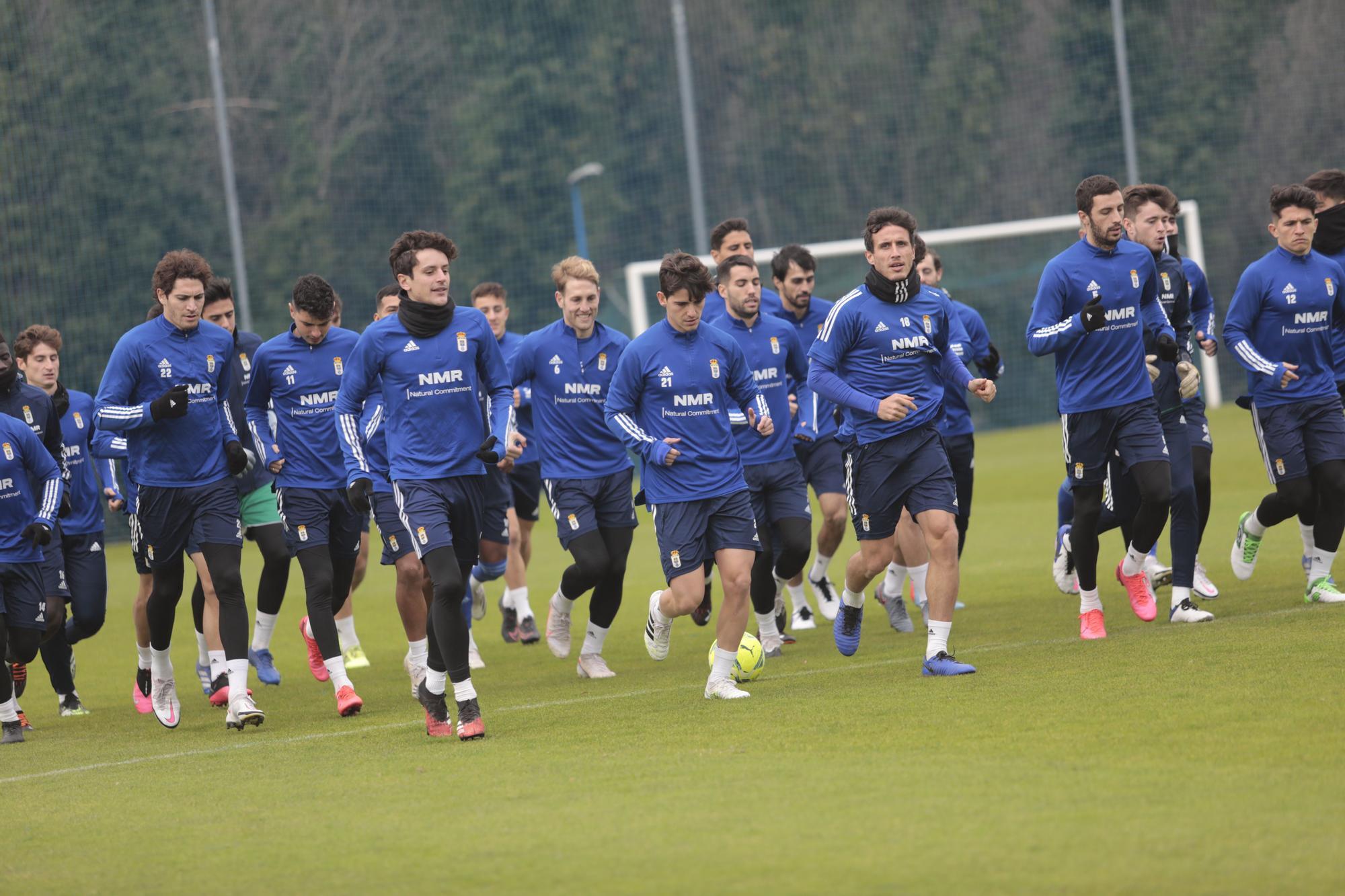 Último entrenamiento del año del Real Oviedo