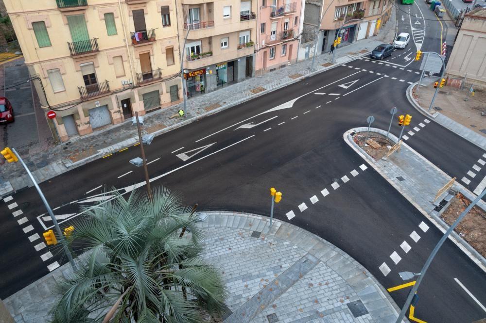 El nou carrer de Vidal i Barraquer a la cruïlla amb Sant Ignasi.