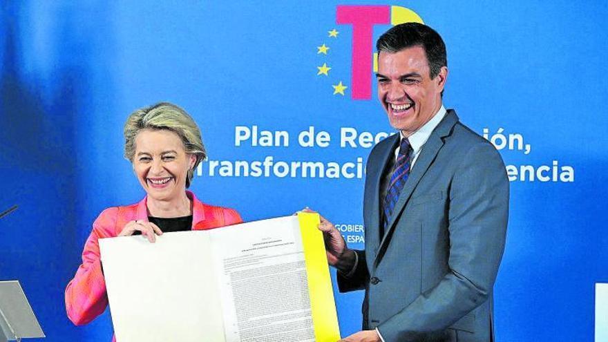 España recibe los primeros 9.000 millones de fondos europeos
