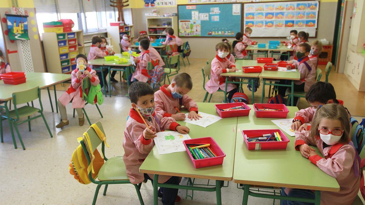 Aula de Infantil y Primaria.