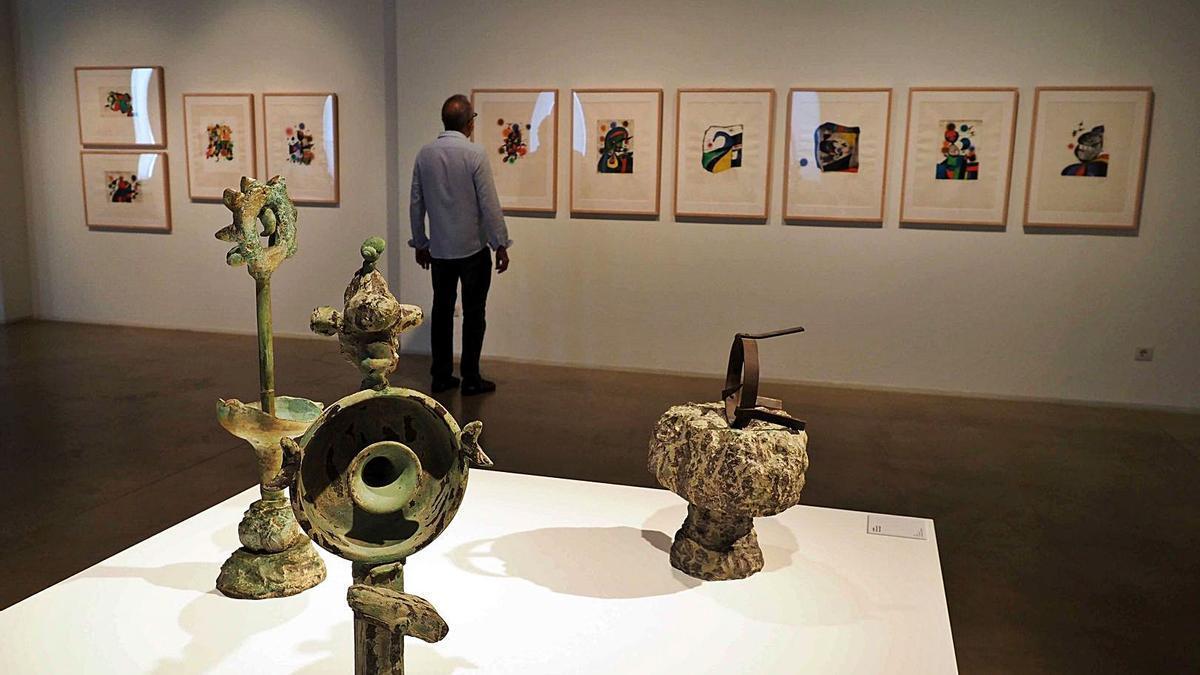 El Museu Can Mario de Palafrugell mostra un diàleg entre Miró i Gaudí | PERE DURAN/NORDMEDIA