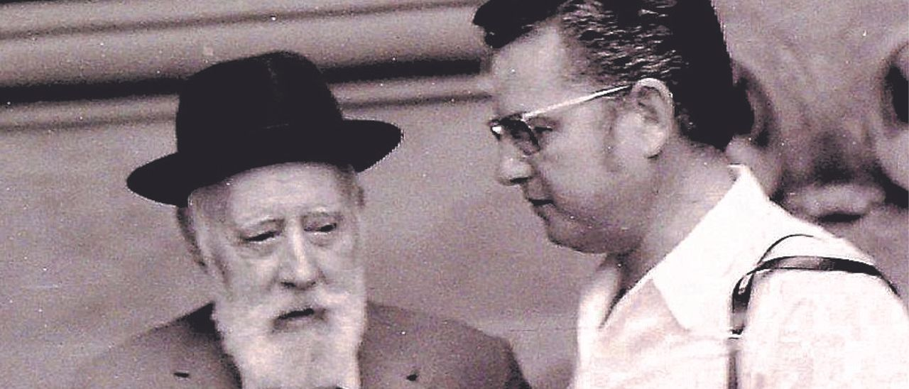 Sarthou, entrevistado por Rovira en agosto de 1970.   ARCHIVO ROVIRA