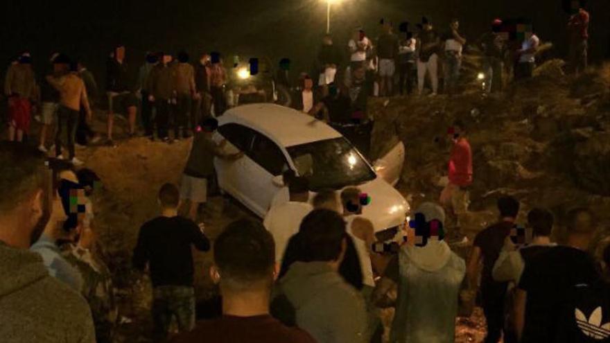 Accidente durante una carrera ilegal en Telde