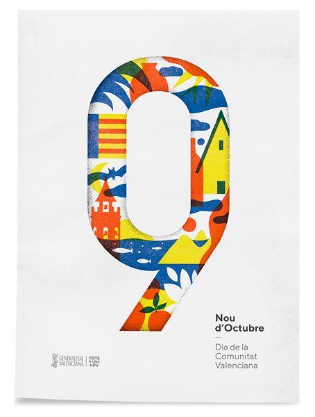La imagen de los diseñadores para el 9 d'Octubre.