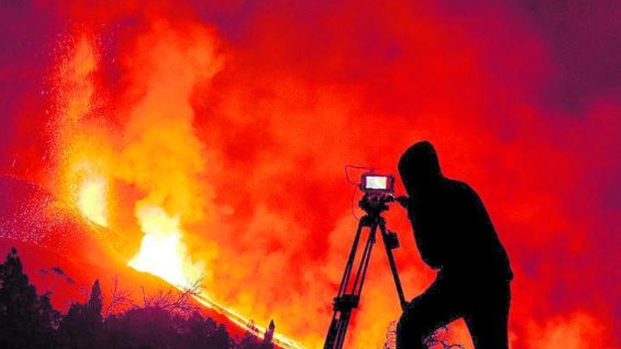 Un volcán de película