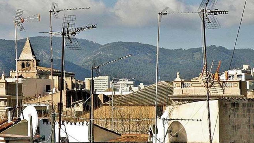 Paisaje de tejados en peligro