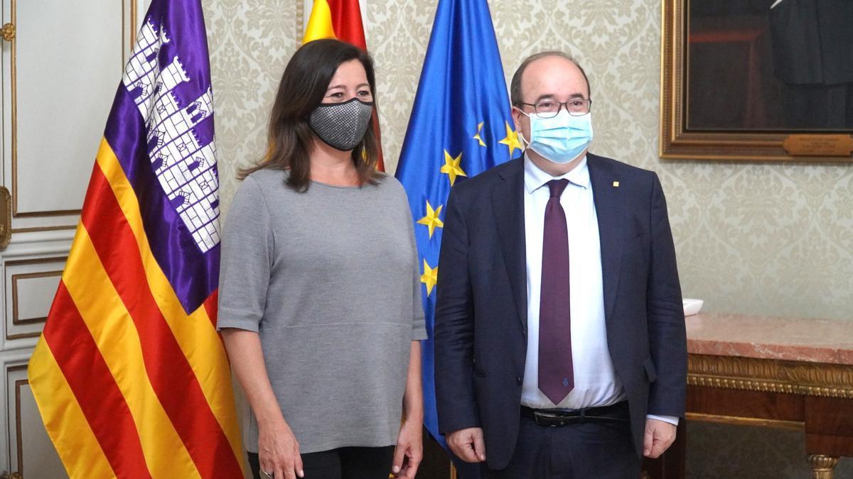Armengol con Miquel Iceta