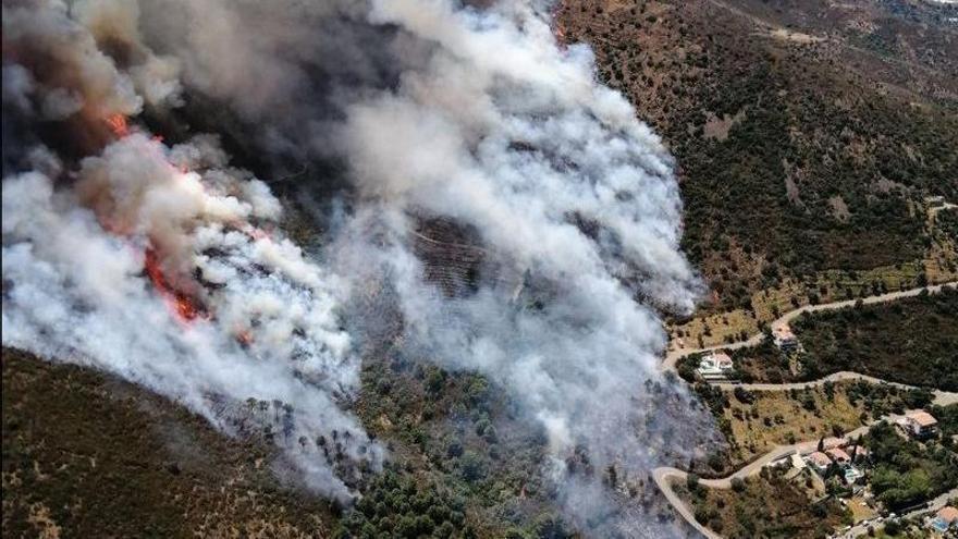 Incendi forestal a Llançà