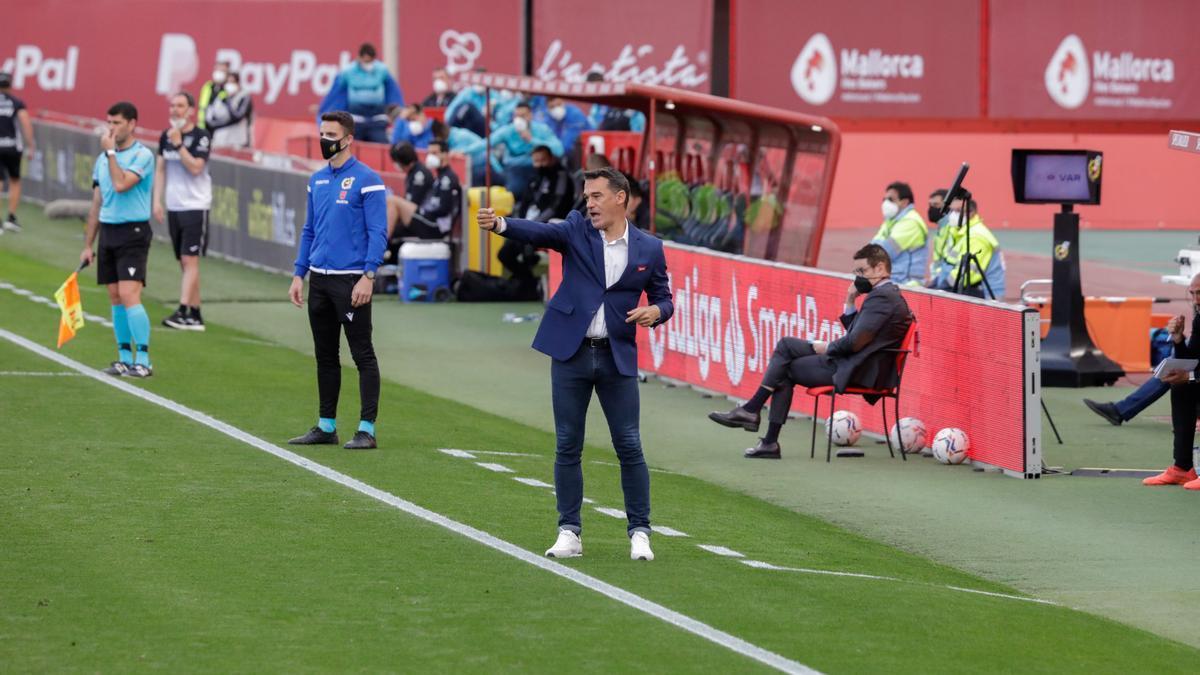 Luis García en el partido ante el Leganés.