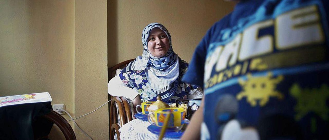 Fatima Aljawish, refugiada siria residente en Asturias.