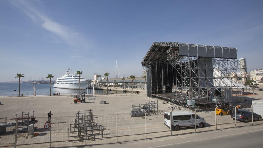 Muelle 12, un espacio al aire libre para la cultura en Alicante