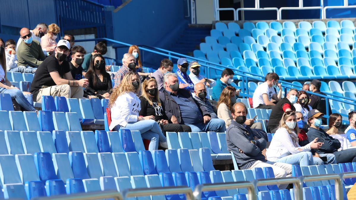 Las gradas de La Romareda, en un partido del Aragón del final de la temporada pasada.