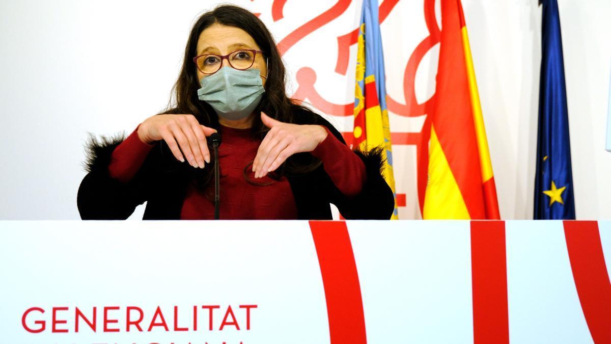 Mónica Oltra tras el pleno del Consell