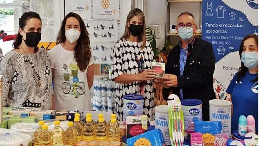 Rotary Club y Asociación Boa Vida recaudan productos de primera necesidad para refugiadas en Grecia