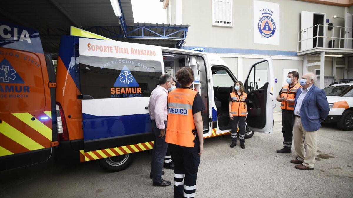 Un grupo de voluntarios de Protección Civil.
