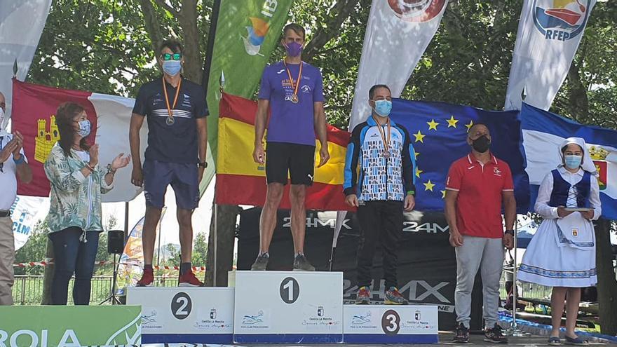 David Ruíz (El Sella), oro en el nacional máster de medio maratón, en aguas del río Tajo