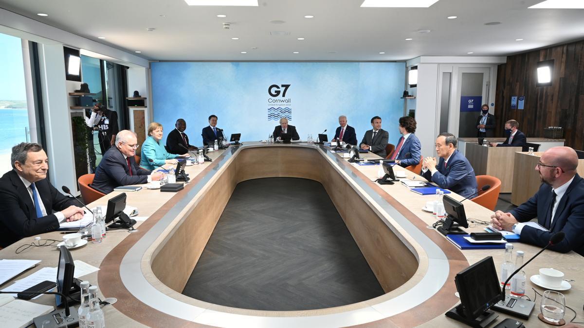 Los líderes del G7, reunidos