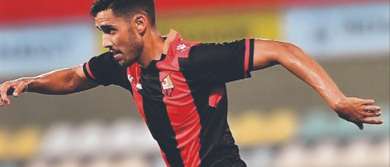 El lateral y extremo grancanario Borja Herrera González, durante un partido de este verano con el Reus.