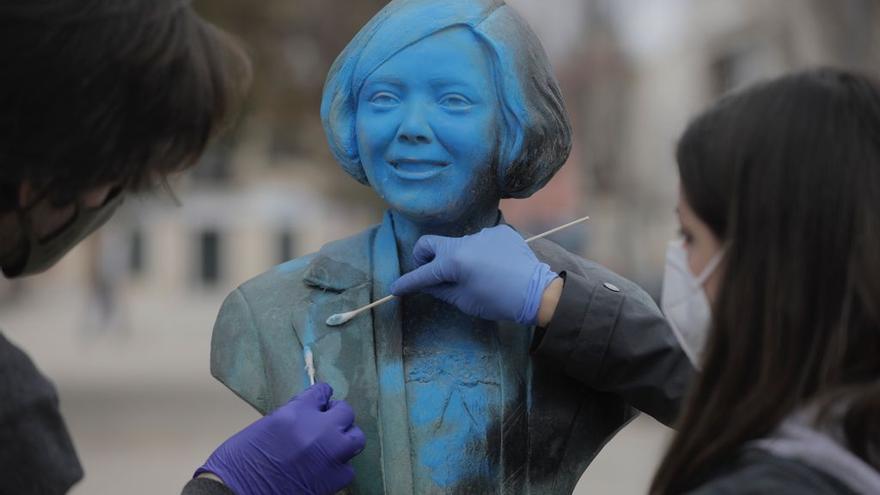 Restauran el busto de Aurora Picornell