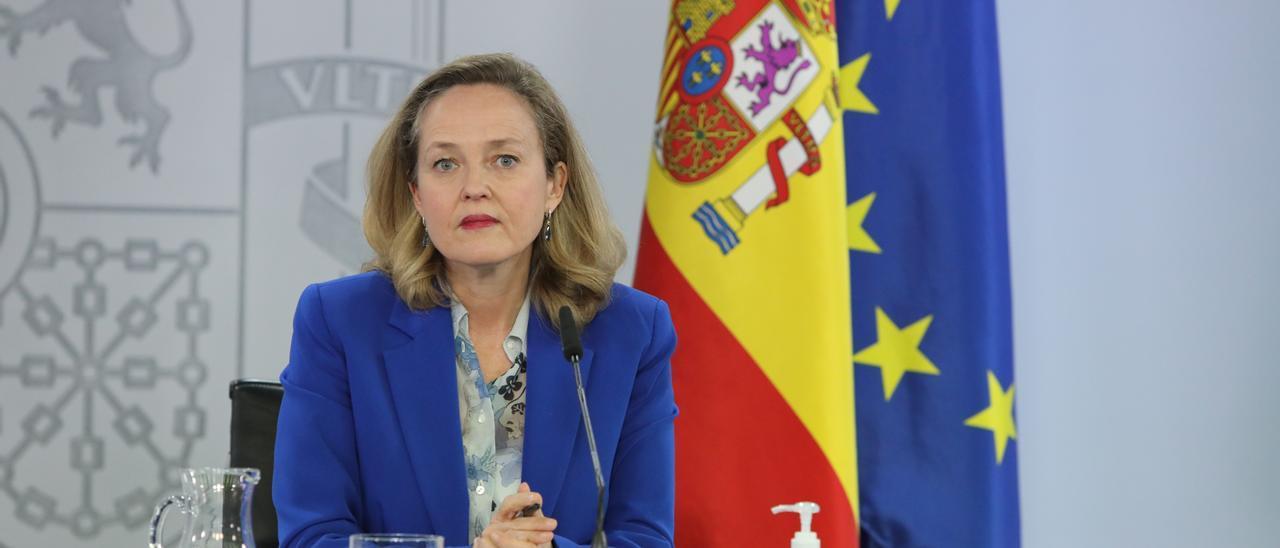 La vicepresidenta segunda y ministra de Asuntos Económicos, Nadia Calviño
