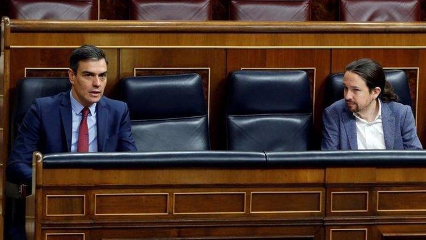 Sánchez e Iglesias se aferran a ERC