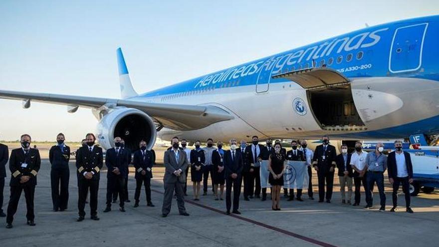 Parte hacia Rusia un vuelo de Argentina para traer vacunas para la COVID-19