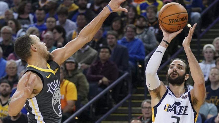 Rubio no puede con los Warriors de Curry