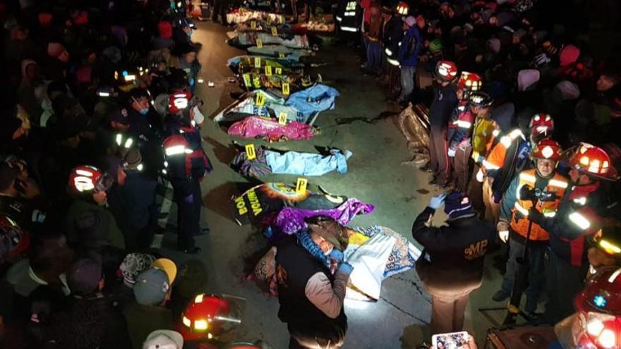 18 morts a Guatemala en ser atropellats per un camió mentre observaven un accident previ