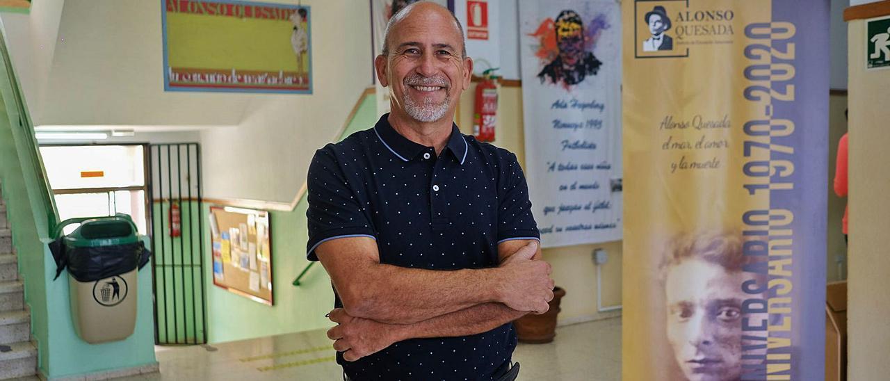 Antonio González González, director del Instituto de Educación Secundaria Alonso Quesada. | | JOSÉ CARLOS GUERRA