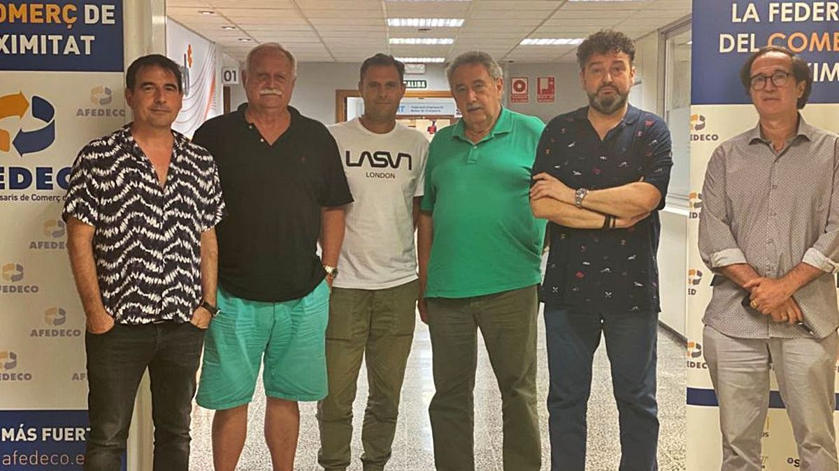 De izquierda a derecha: Sobrino, Noguera, Salvá, Servera, Gayà y Vilella. | AFEDECO