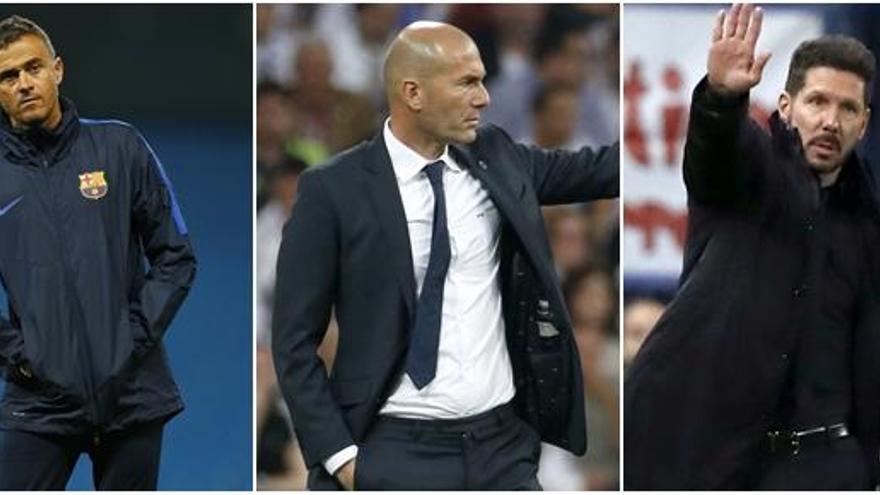 Luis Enrique, Zidane y Simeone optan a 'Entrenador de la FIFA'