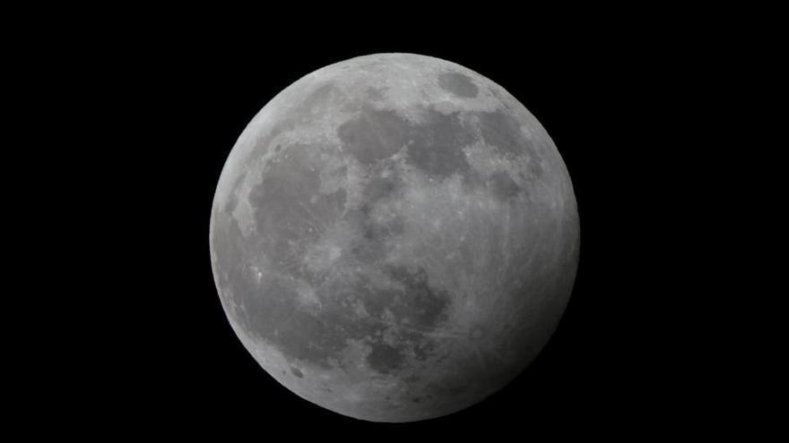 La Luna en fase llena antes del eclipse penumbral del pasado 10 de enero.
