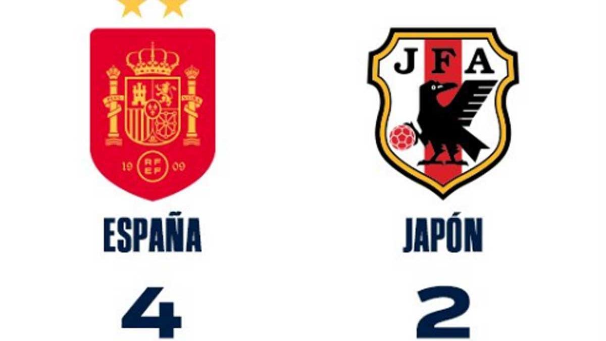 España sufrió para derrotar a Japón.