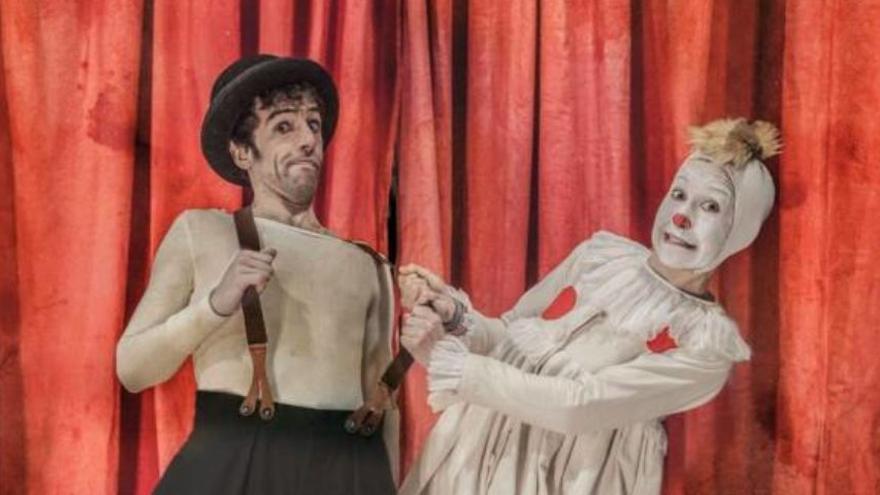 El Teatro Góngora acoge la obra 'Acróbata y Arlequín', basada en el universo del circo de Picasso