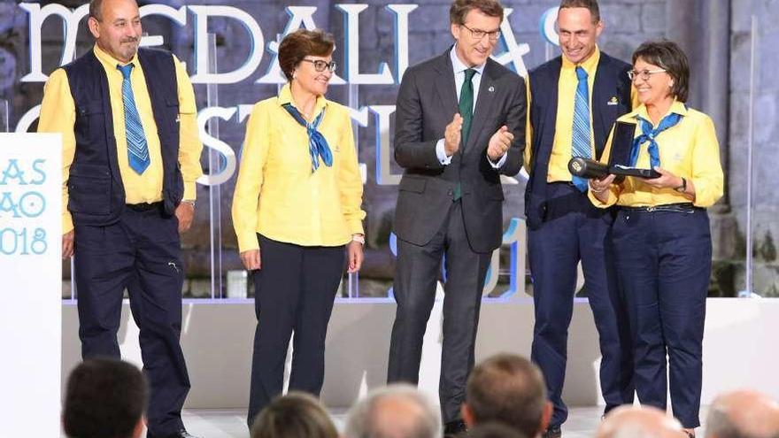 Carteros de A Estrada, Forcarei y Cerdedo, en el acto de las Medallas Castelao