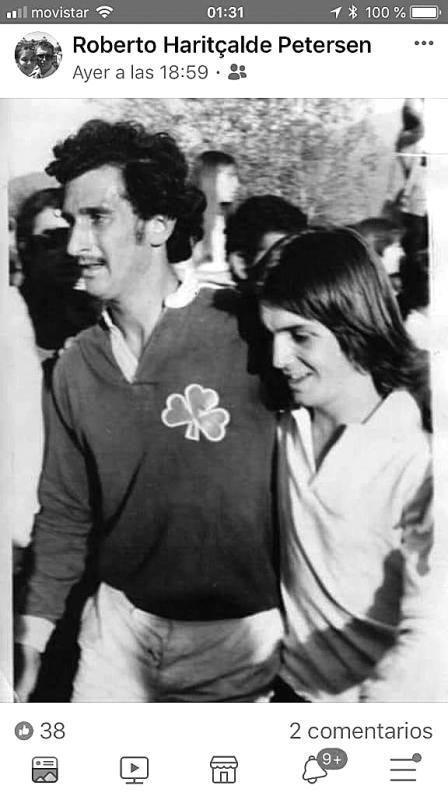Zerbino, junto a Roberto Haritcalde, poco después del rescate. / Archivo personal