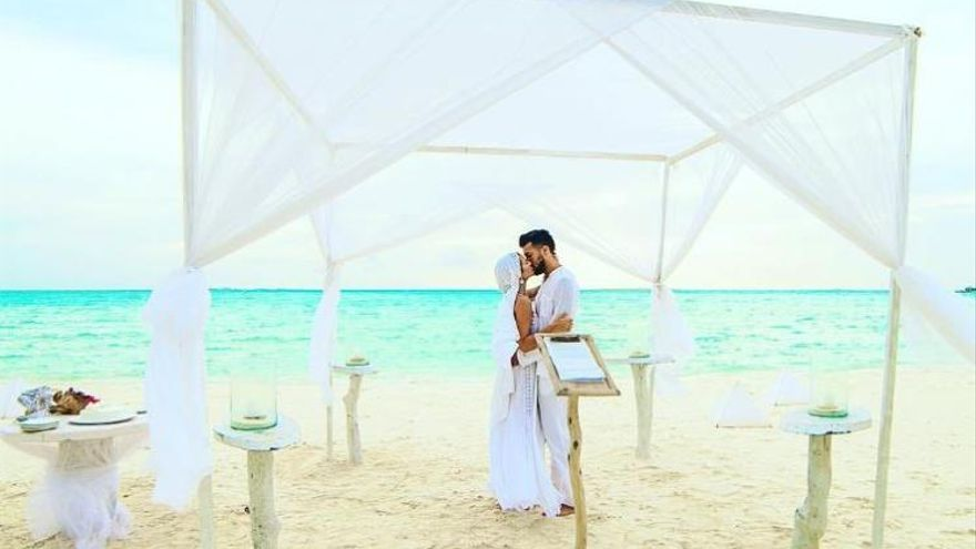Las fotos de la boda de Ezequiel Garay y Tamara Gorro en Maldivas