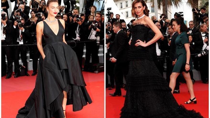 Irina Shayk y Nieves Álvarez, duelo de 'top models' en la alfombra roja de Cannes