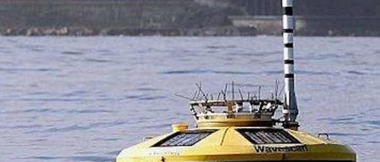 Una de las boyas instaladas en el área marina acotada por Bimep en la costa vizcaína para tareas de experimentación.