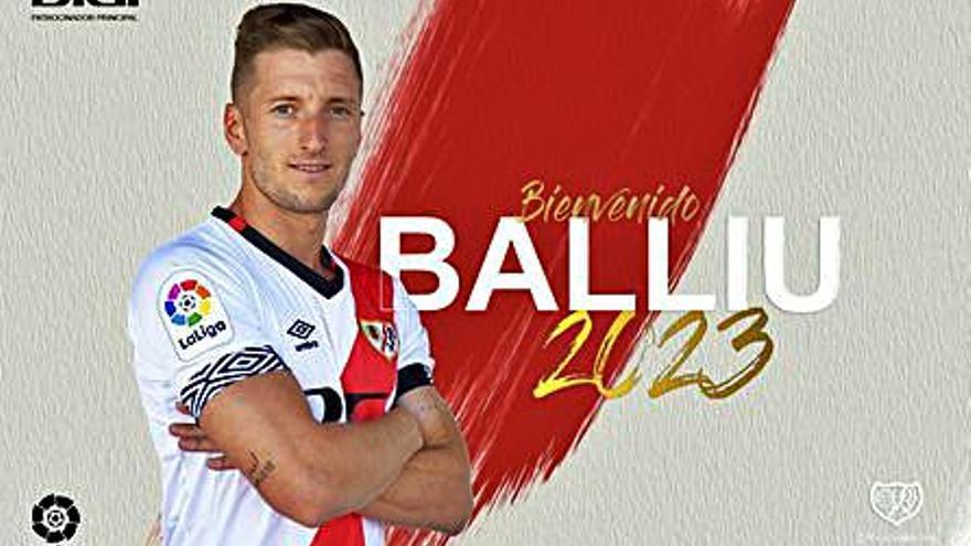 Ivan Balliu fitxa dos cursos pel Rayo vallecano a Primera Divisió