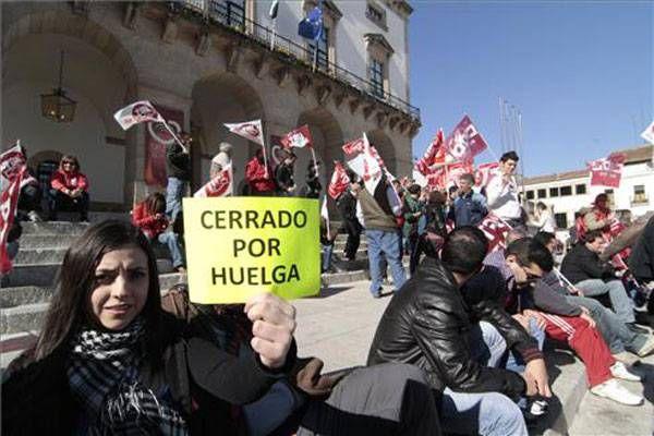 La jornada de Huelga General en Extremadura