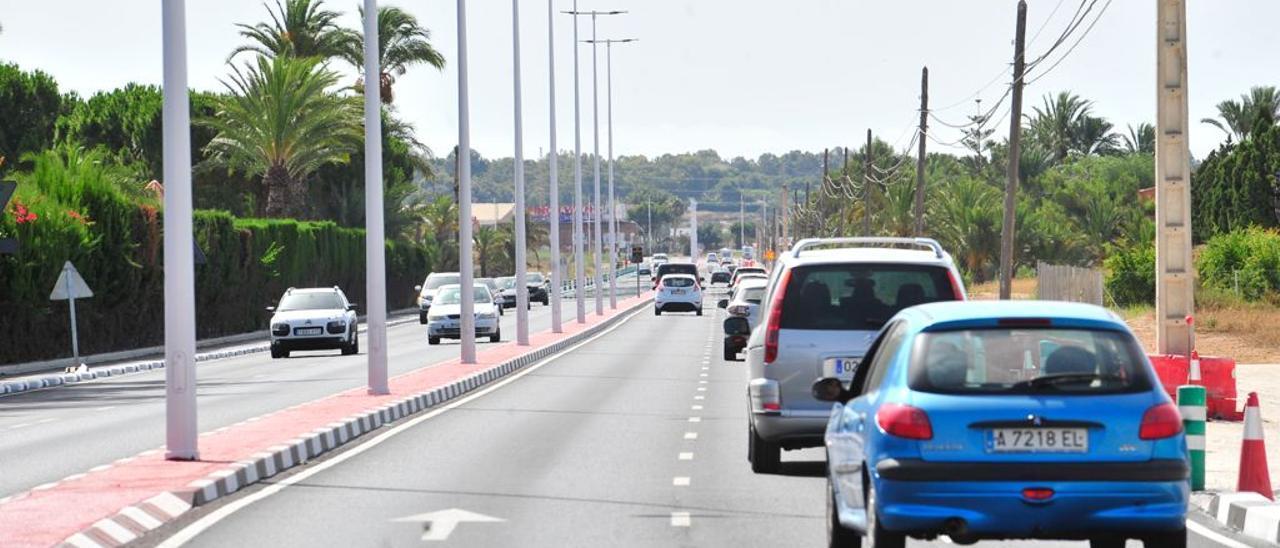 La carretera Elche-Santa Pola (CV-865) abre un tramo más de su desdoblamiento
