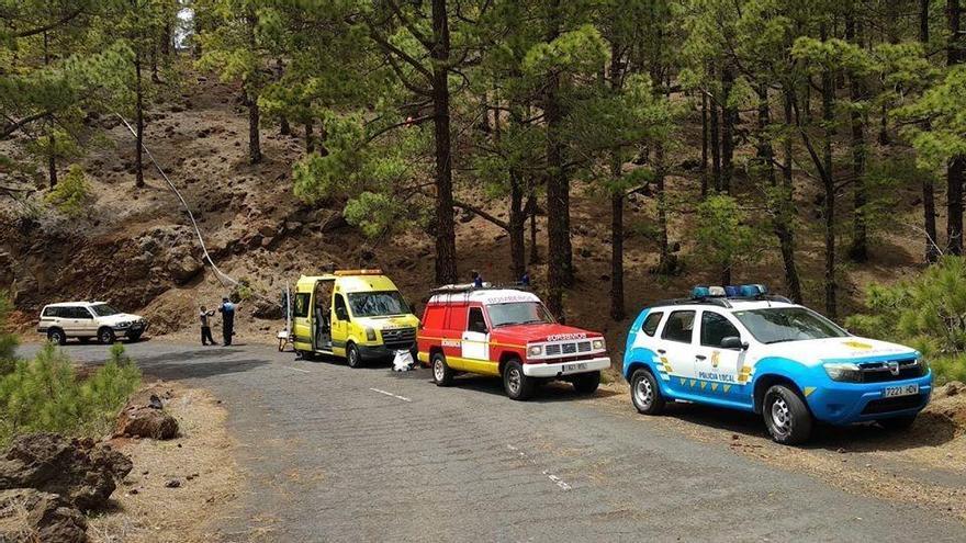 Rescate de una senderista en los montes de El Paso (La Palma)