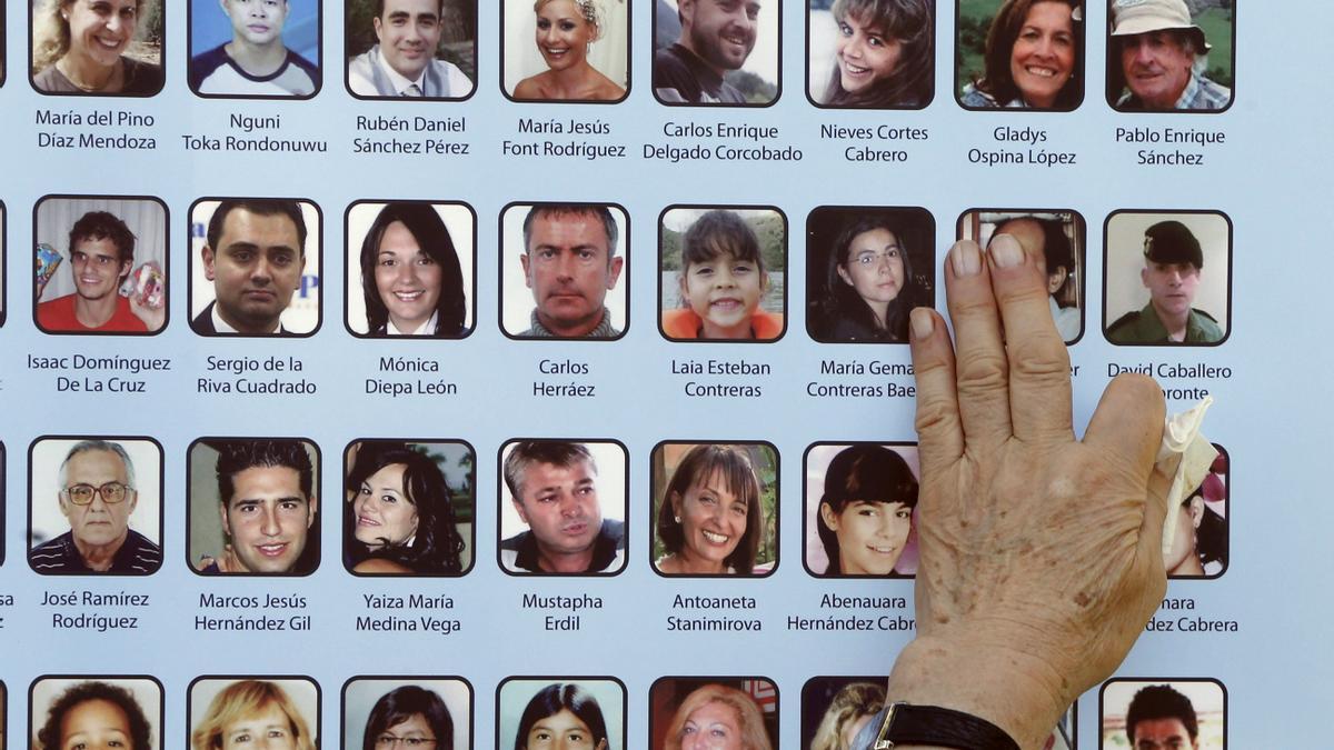 Fotos de las víctimas del accidente de 2008.